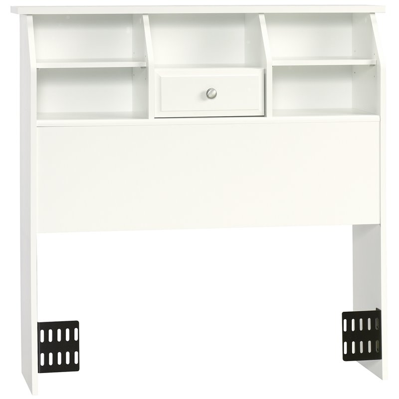 Twin Bookcase Headboard in White