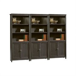 Library Wall Bookcase in Estate Black