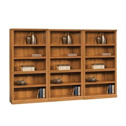 5 Shelf Wall Bookcase in Abbey Oak