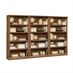 5 Shelf Wall Bookcase in Oiled Oak