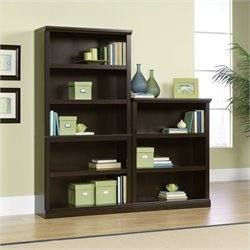 Wall Bookcase in Jamocha Wood
