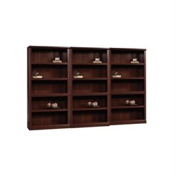5 Shelf Wall Bookcase in Select Cherry