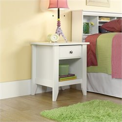 Sauder Shoal Creek Nightstand in Soft White