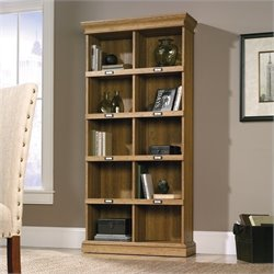 Tall Bookcase in Scribed Oak Finish