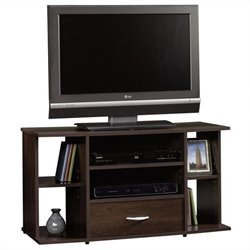 Sauder Beginnings Panel TV Stand in Cinnamon Cherry