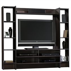 Sauder Beginnings Entertainment Center in Cinnamon Cherry