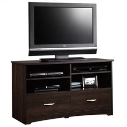 Sauder Beginnings TV Stand in Cinnamon Cherry