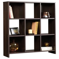 Sauder Beginnings 9 Cubby Storage Organizer in Cinnamon Cherry