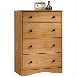 Sauder Beginnings 4 Drawer Chest in Highland Oak