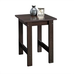 Sauder Beginnings End Table in Cinnamon Cherry Finish