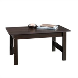 Sauder Beginnings Coffee Table in Cinnamon Cherry Finish