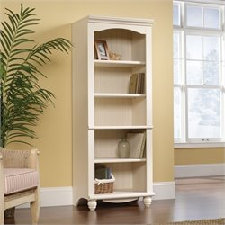 Library 5 Shelf Bookcase in Antiqued White