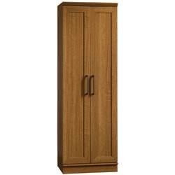 Sauder Homeplus Storage Cabinet in Sienna Oak Finish