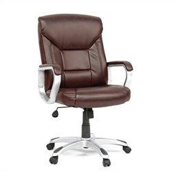 Executive Office Chair Leather Brown in Office Chair Brown
