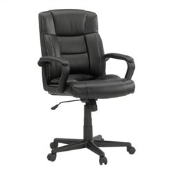 Manager Office Chair Leather Black in Office Chair Black
