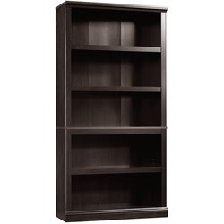 5 Shelf Bookcase in Estate Black
