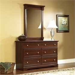 6 Drawer Dresser and Mirror Set in Cherry