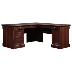 L Shaped Computer Desk in Cherry