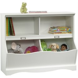 Bookcase Footboard in Soft White Finish