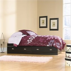 Sauder Shoal Creek Twin Mates Bed in Jamocha Wood