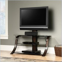 Sauder Veer Panel TV Stand With Mount in Finish
