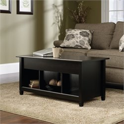 Sauder Edge Water Lift Top Coffee Table in Estate Black