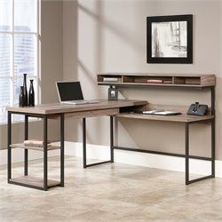 L Desk in Salt Oak