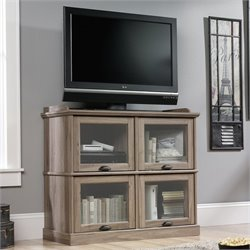 Highboy TV Stand in Salt Oak