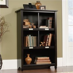 Sauder Edge Water Bookcase in Estate Black