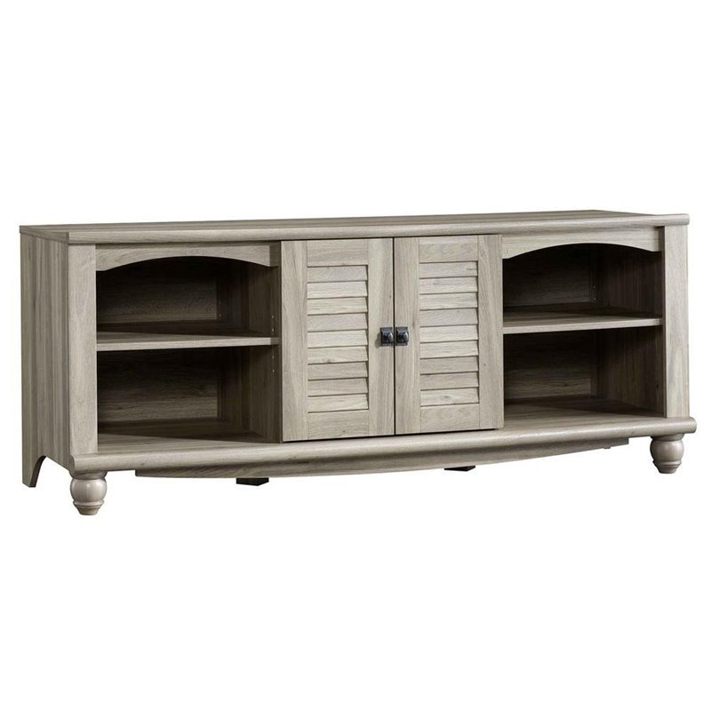Entertainment credenza in salt oak 415055 for Oak harbor furniture