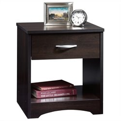 Sauder Beginnings Nightstand in Cinnamon Cherry