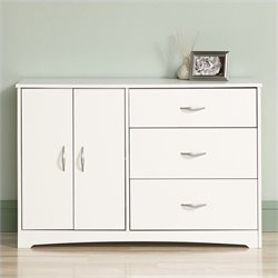 Sauder Beginnings Dresser in Soft White