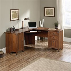 L Shaped Computer Desk in Washington Cherry