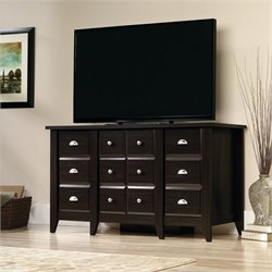 Sauder Shoal Creek TV Stand in Jamocha Wood