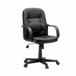Leather Office Chair in Black