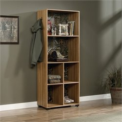 6 Shelf Storage Tower in Scribed Oak