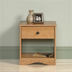 Sauder Beginnings Nightstand in Highland Oak
