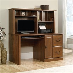 Computer Desk with Hutch in Milled Cherry