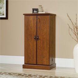 Multimedia Storage Cabinet in Milled Cherry
