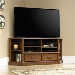 Corner TV Stand in Milled Cherry