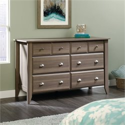 Sauder Shoal Creek 8 Drawer Dresser in Diamond Ash