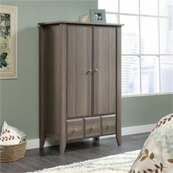 Sauder Shoal Creek Armoire in Diamond Ash