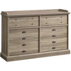 12 Drawer Dresser in Salt Oak