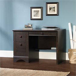 Sauder Harbor View Computer Desk in Antique Black
