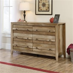 6 Drawer Dresser in Craftsman Oak