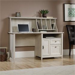 Computer Desk with Hutch in Chalked Chestnut