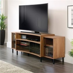 Curved TV Stand in Fine Walnut