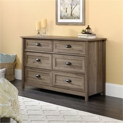 6 Drawer Dresser in Salt Oak