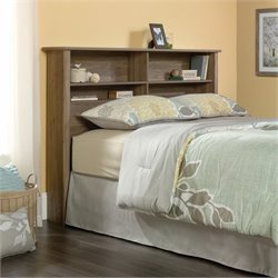 Queen Bookcase Headboard in Salt Oak