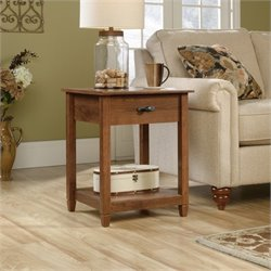 Sauder Edge Water End Table in Auburn Cherry